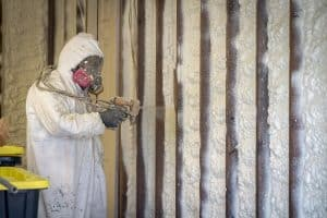 spray foam on commercial space